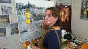 Marie Laure Souq La fille en jaune